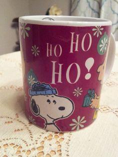 Peanuts 60 Years HO HO HO Coffee Mug Gibson Charlie Brown Snoopy Christmas cup