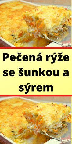 Pečená rýže se šunkou a sýrem Mozzarella, Cornbread, Ethnic Recipes, Food, Millet Bread, Essen, Meals, Yemek, Corn Bread