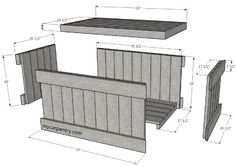 Cedar Chest Plans - Build Your Own Cedar Chest The easiest and quickest way to build your chest is to purchase cedar decking and pre cut The chest is also almost free if you use Woodworking Projects Diy, Diy Wood Projects, Woodworking Plans, Woodworking Furniture, Custom Woodworking, Wood Crafts, Pallet Chest, Wood Chest, Diy Storage Bench