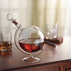 Wine Enthusiast Etched Globe Spirits Decanter -- For more information, visit image link.