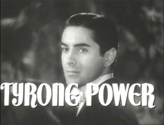 Tyrone Power-movie star of the 30's, 40's, & 50's. Died at 44 of a heart attack. http://www.archive.org/details/alexanders_ragtime_band