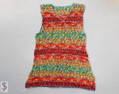 Las mujeres accesorios coloridos algodón Crochet chal