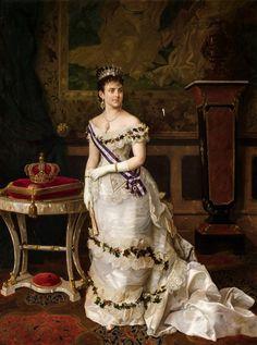 La reina María de las Mercedes de Orleans y Borbón, primera esposa de Alfonso XII