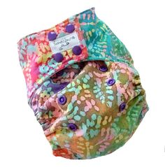 Batik One Size Pocket Cloth Diaper with Bamboo Organic Cotton inserts