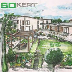 kertépítés ötletek, gardening, gardens, gardendesign Mansions, House Styles, Modern, Painting, Design, Decor, Gardening, Home And Garden, Trendy Tree