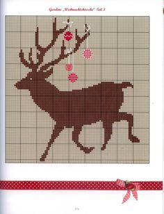Free deer cross stitch pattern