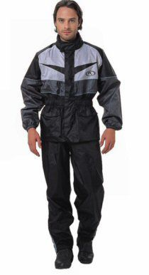 FieldSheer Lex: 100% waterproof lightweight PU coated nylon with taped seams.  Contoured, Corduroy lined collar.  Velcro® adjustable gusseted cuff.  Long gusseted zip and Velcro® leg enclosure.  Reflective Phoslite® for high visibility.  2 front Velcro® on jacket.  1 front Velcro® on pant.