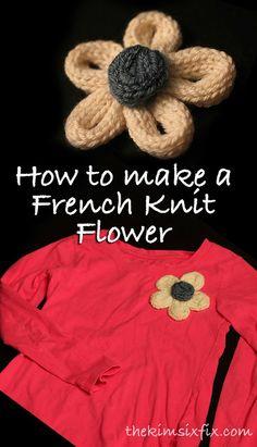 French Knit Flower Shirt (Spool Knitting)
