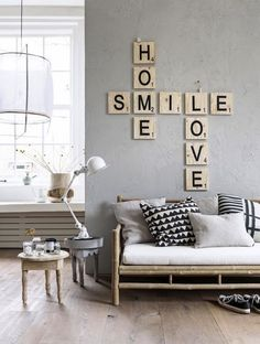 ideas para decorar paredes con letras 7 » Vivir Creativamente