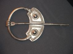 THE PENRITH HOARD: Viking period brooch in silver from the Penrith Hoard (British Museum)