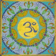 Mandala V (Ohm). Acrílico sobre tabla   19x19cm  25€