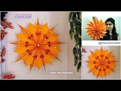 How to make paper bag starburst | paper bag star | Christmas decoration idea, - YouTube