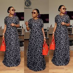 Lulu Kaftan😍 very limited! Your fingers has got to be FAST! Be Kikswoman, Stand different. Wearkiksplace Weargoodstuff👌 For all enquiries… Kente Dress, African Maxi Dresses, Latest African Fashion Dresses, African Print Fashion, African Attire, African Wear, African Clothes, African Lace Styles, African Style