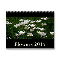 A 2015 wall calendar with floral photography. Twelve beautiful flower photos by fine art photographer Henk van Kampen.