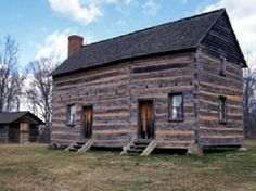 President James K. Polk State Historic Site - Pineville, N. did not know this was so close. Presidential Libraries, Presidential Trivia, James K Polk, Mexican American War, North Carolina Homes, Small Cabins, Log Cabins, Best Location, Historic Homes