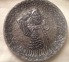 Statesmetal Christmas Santa Plate