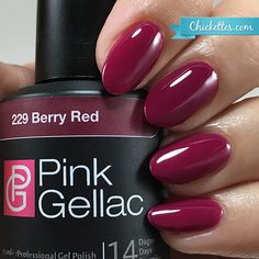 Pink Gellac Berry Red Gel Polish
