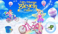 #kidsgame Help the fairy #Princess who is facing lot of #fiasco with her #bicycle and enjoy an amazing fun #BicycleRide with her.