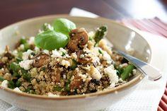 Mushroom and Asparagus Warm Quinoa