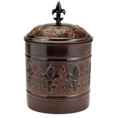 Antique Biscuit Jars   Details about ANTIQUE Copper COOKIE JAR Fleur de Lis KITCHEN Canister ...
