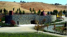 Keller Estate Winery designed by Mexican architect Ricardo Legorreta