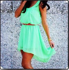 Today my post is unfolding simple, elegant and stylish green summer dresses! Today I am bringing my new collection of green summer dresses. Shop the latest Hi Low Dresses, Cute Summer Dresses, Pretty Dresses, Beautiful Dresses, Casual Dresses, Summer Clothes, Dress Summer, Summer Outfits, Spring Summer