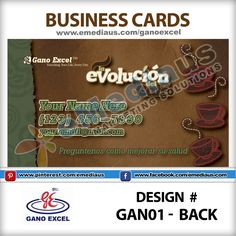 14 best gano excel portfolio images on pinterest gan01 back design business card 35 reheart Choice Image