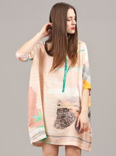 Reality Studio Pink Print Aya Dress