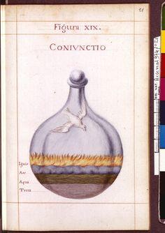 Figura XIX - Coniunctio - Sapientia veterum philosophorum, sive doctrina eorumdem de summa et universali medicina 40 hierogliphis explicata