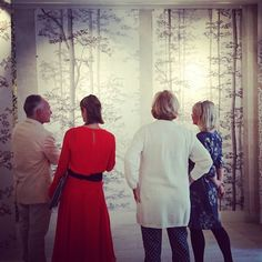 Artist Alexander Hamilton explains his ethereal new wallcoverings for @lewisandwood - the original artwork is also on show #Focus16
