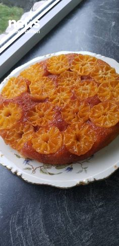 Tavada Mandalina Kek Mandarin Cake, Pizza, Homemade Cake Recipes, Food And Drink, Yummy Food, Healthy, Easy, Desserts, Crafts