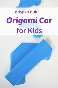 Kids can be a 'transformer' with this easy to fold origami car. 1 paper and 3 minutes quick activity for kids #origami #origamifoodie #favemom #paperfolding #kidsactivities