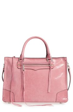 This pink satchel from Rebecca Minkoff would be a fabulous addition to anyone's spring wardrobe!