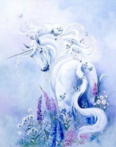 Still holding up hope for my unicorns. ...  Blue Enchantment by Marilyn Alice Boyle