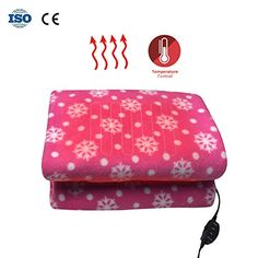 Myfreed Car Electric Blanket 12V Heated Electric Blanket Electric Car Blanket Travel Fleece Throw Blanket for Car Automobile