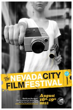 Official 2012 Nevada City Film Festival Poster.  Photo and design by The Indiana Experiment.