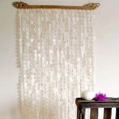 Tür-Vorhang Perlmutt & Kalimantan, auf 12 Nylonbändern