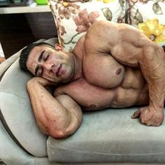 Daddy getting his beauty muscle sleep