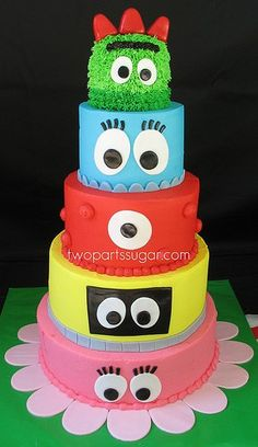 Yo Gabba Gabba Party party-ideas. Just might have to do this for birthday one!! Joseph lOVES yo gabba gabba!