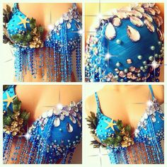 SALE: Under the Sea Rave Bra by TheLoveShackk on Etsy