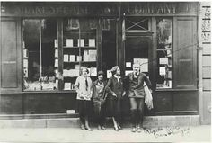 Hemingway and friends.  Shakespeare and Co in Paris. (back in the black days)