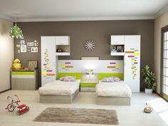 Dormitoare Copii Cu 2 Paturi 1371 Kids Bedroom Furniture Design, Smart Furniture, Space Saving Furniture, Kids Room Design, Small Room Bedroom, Room Decor Bedroom, Boy Room, House Design, Interior Design