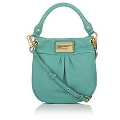 Marc by Marc Jacobs aqua leather mini hobo bag! I'm Leah Turquoise