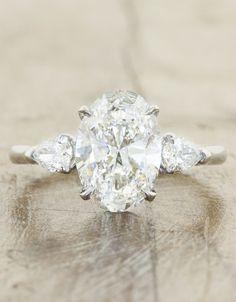 -Inspired Oval Engagement Rings - Ken & Dana Design
