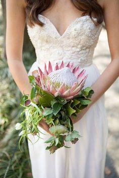 now that's a bouquet. king protea bouquet by Karma Flowers Protea Wedding, Flower Bouquet Wedding, Floral Wedding, Wedding Greenery, Protea Bouquet, Protea Flower, Dream Wedding, Wedding Day, Wedding Things