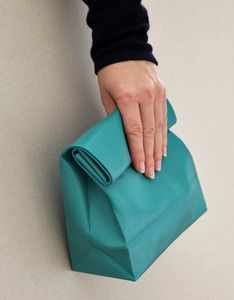 """Paper bag"" clutches are awesome!"