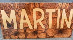 Name Plaque Custom pyrography sign for driveway front door anywhere by SignsOFire on Etsy