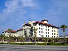 """A sparkling vision of Victorian elegance rising from the sand and surf, the Hotel Galvez - A Wyndham Grand Hotel in Galveston, Texas - was known as the """"Queen of the Gulf"""" on the day she opened in 1911."""