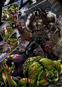 PITT vs Hulk!! #hulk #Marvel #comic . Pin and follow pyra2elcapo