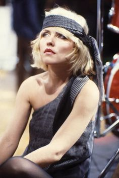 Debbie Harry on the set of the 'Heart of Glass' video shoot Photo by Roberta Bayley